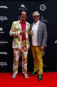Alexander Babor und Andreas Enzenhofer bei der Anina W Dirndl Modenschau in München