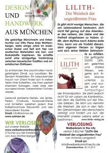 "Anina W Couture München Dubai im Stadtmagazin Duisburg ""Weiberkram in the city"""