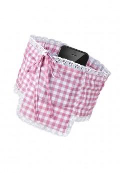 aninaw dirndl strumpfband tasche handy rosa weiss