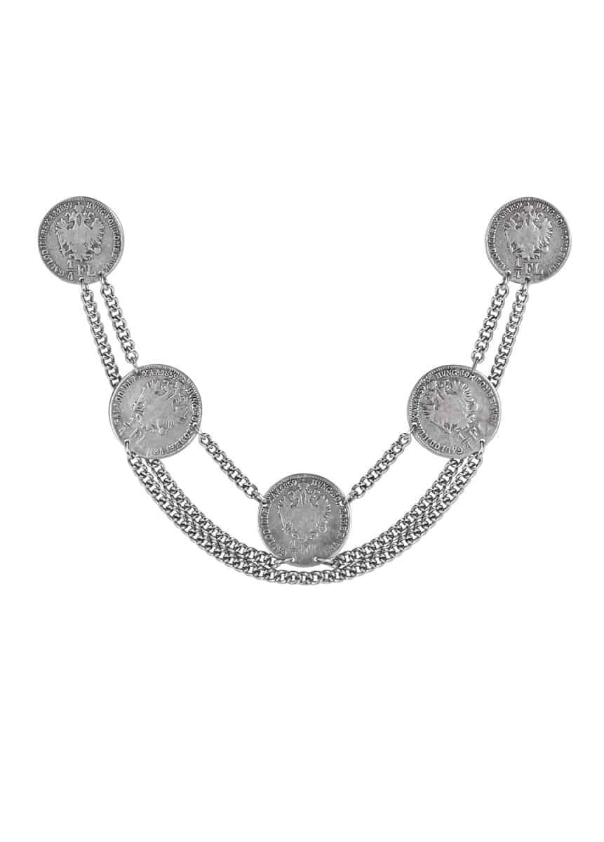 anina w trachtenschmuck charivari münzen filigran