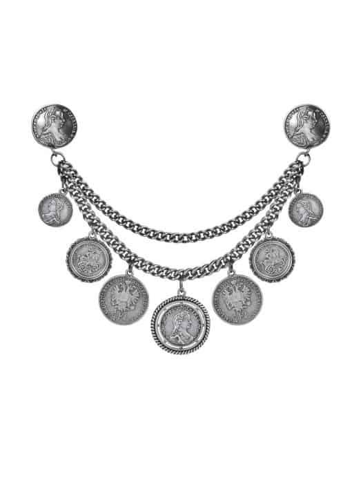 anina w trachtenschmuck charivari münzen massiv