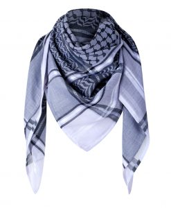 Tuch Schal arabisch weiss mit grau und schwarz