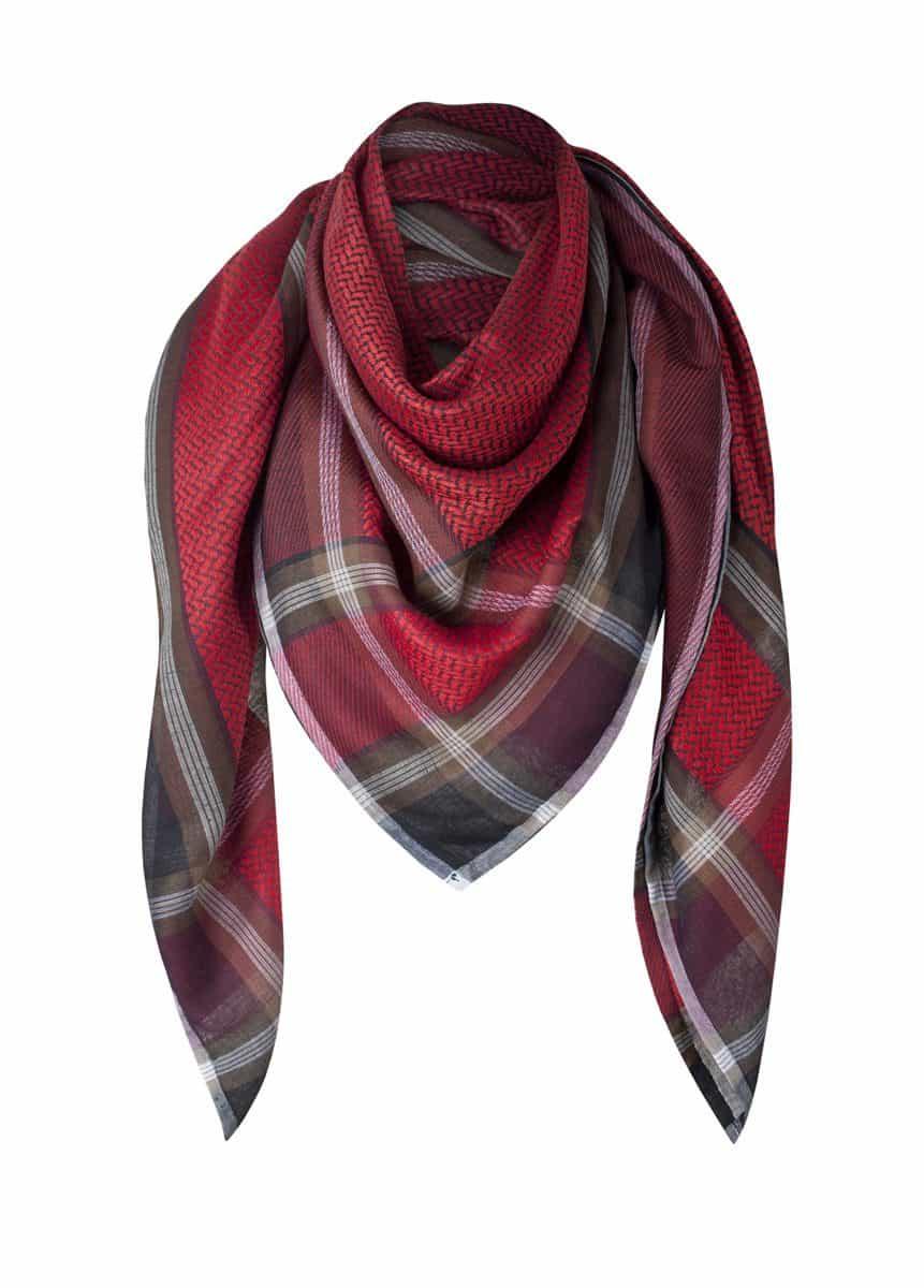 Tuch Schal arabisch schwarz mit rot