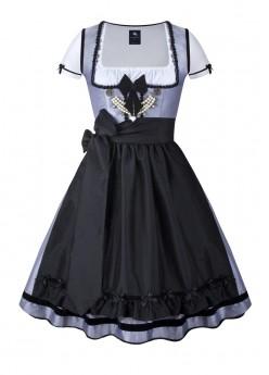 dirndl couture colette dunkelgrau schwarz