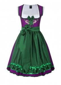 dirndl couture colette lila dunkelgrün
