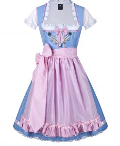 dirndl couture colette hellblau rosa