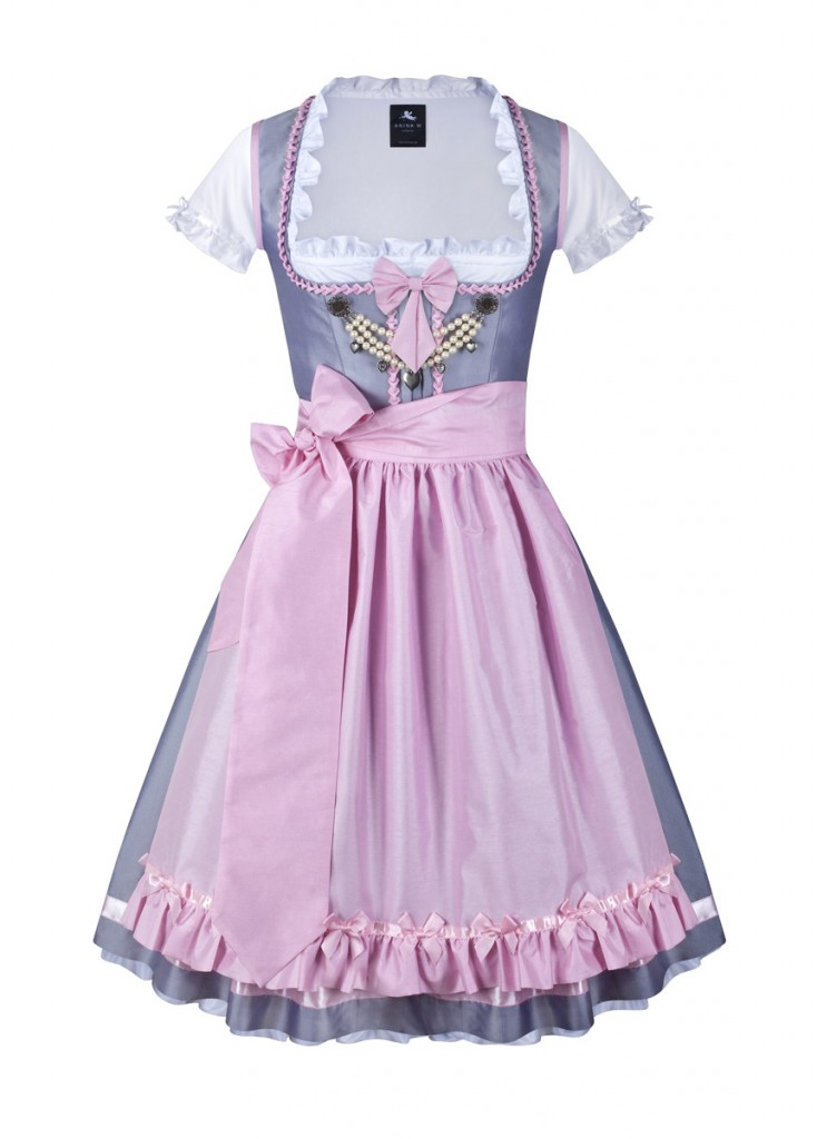 dirndl couture colette hellgrau rosa