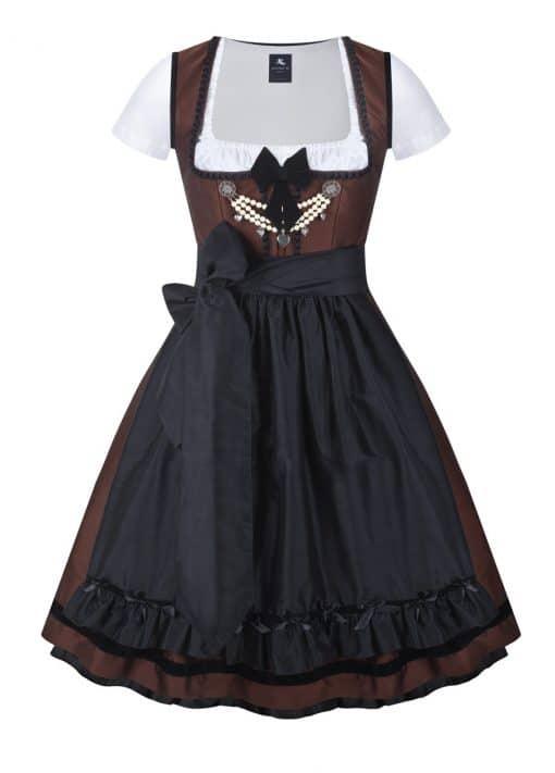 dirndl couture colette dunkelbraun schwarz