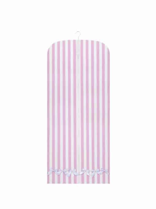 anina w kleidersack kleiderhülle rosa weiss gestreift