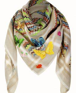 Tuch Schal arabisch beige multicolor