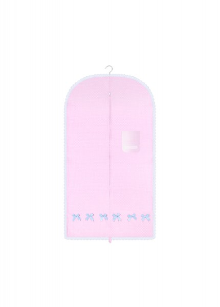 anina w kleidersack kleiderhülle rosa weiss gepunktet