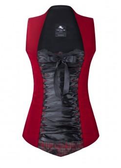 anina w trachtenmieder corsage rot schwarz samt