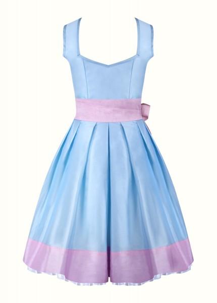 dirndl madita hellblau mit rosa und perlen