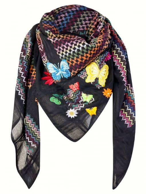 Tuch Schal arabisch schwarz multicolor