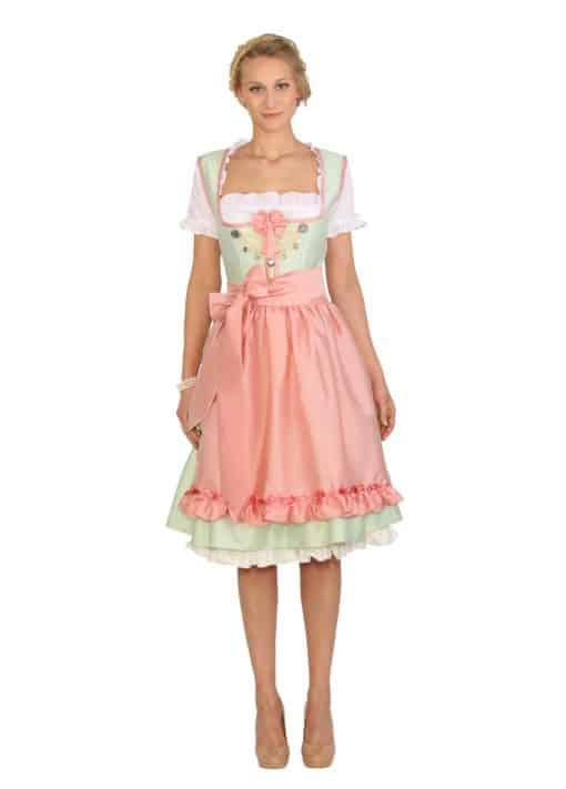 Dirndl Hochzeitskleid Colette mint mit rosa