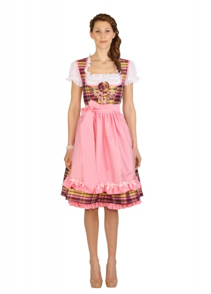 anina w dirndl couture colette beige rosa kariert