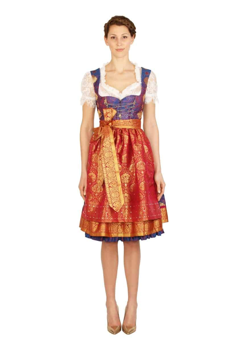 dirndl couture sari antoinette lila pink gold