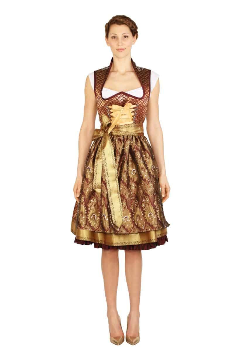 anina w dirndl couture sari antoinette bordeaux gold