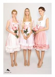 ANINA W Kollektion 2015 2016 Dirndl Modell Anja mit Schalkragen und Trachtenhaken