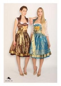 ANINA W Kollektion 2015 2016 - Dirndl Modell Antoinette mit Schalkragen und Trachtenhaken