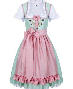 Dirndl Hochzeitsdirndl Colette mint mit rosa