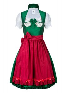 dirndl couture nina grün bordeaux mit perlen