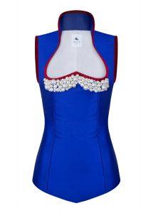 anina w trachtenmieder corsage blau mit perlen