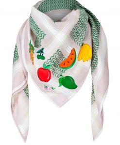 Tuch Schal arabisch beige mit grün