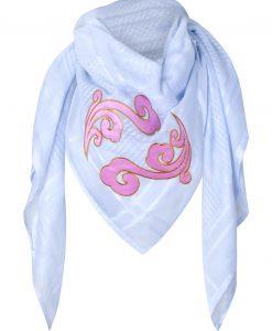 anina w tuch schal arabisch weiß mit rosa muster