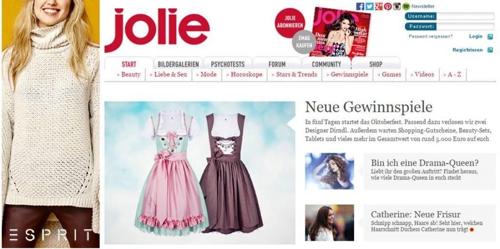 Anina W Dirndl Gewinnspiel auf Jolie.de