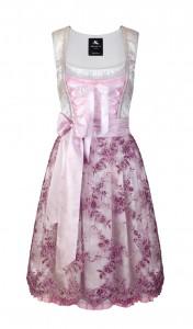 Couture Dirndl aus Brokat und Spitze in Silber und Rosa zur Hochzeit, von Anina W Couture