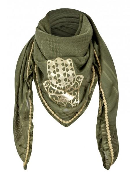 anina-w-tuch-schal-arabisch-grün-gold-hand-der-fatima