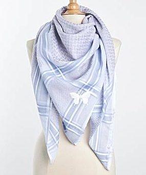 Tuch-Schal-arabisch-weiss-mit-hellblau-und-flieder