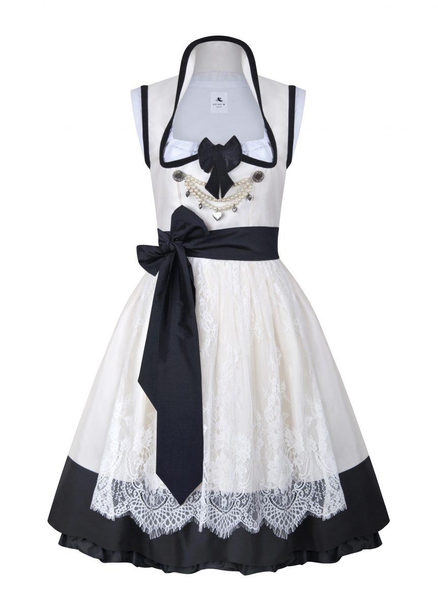 Variante Dirndl Couture Anja nude mit schwarz